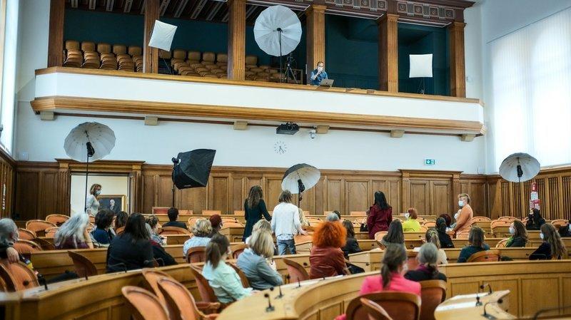 Grand Conseil à majorité féminine: la photo événement d'«ArcInfo»
