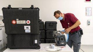 300 respirateurs que la Suisse n'utilise pas sont destinés à l'aide humanitaire