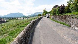 La route des vignes entre Auvernier et Neuchâtel sera encore plus bucolique