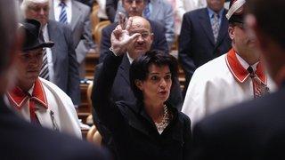 Doris Leuthard intronisée au Conseil fédéral en 2006