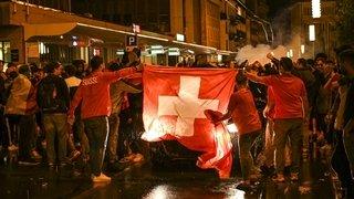 Suisse-France: la liesse à La Chaux-de-Fonds