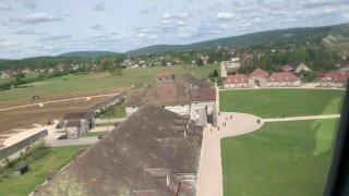 La Saline royale d'Arc-et-Senans vue du ciel