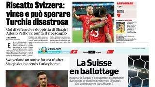 Au cœur de l'Euro: la revue de presse internationale après la victoire de la Nati