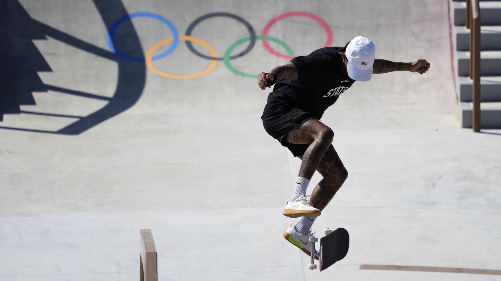 Nyjah Huston pourrait devenir dimanche le premier champion olympique de skateboard.