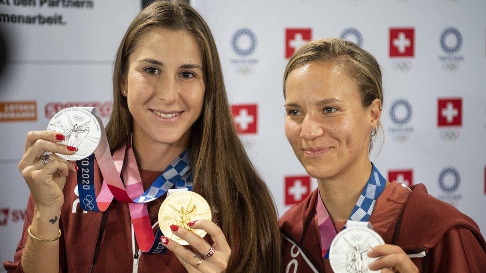 Belinda Bencic (à gauche) et Viktorija Golubic ont porté haut les couleurs helvétiques.