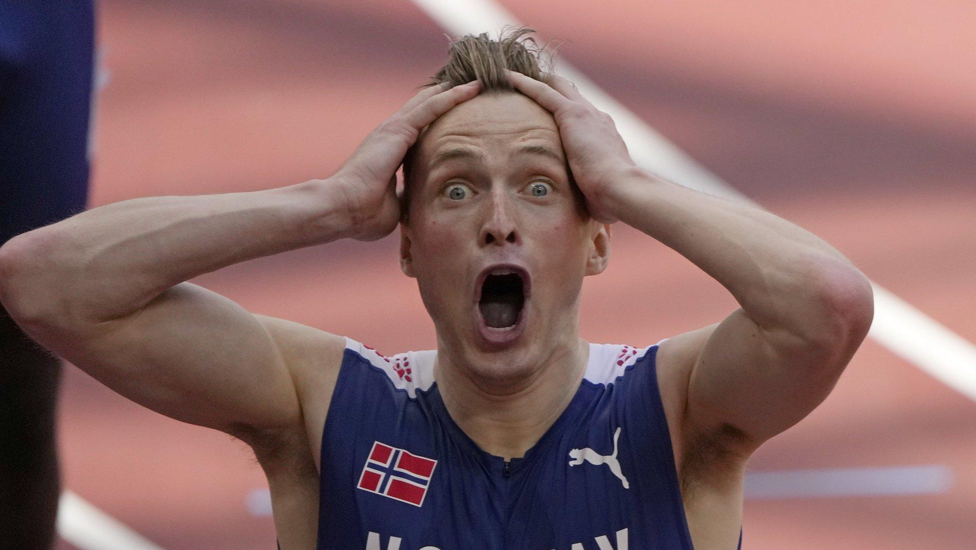 Karsten Warholm n'a pas été le seul étonné par son record du monde sur 400m haies.