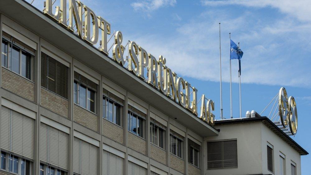Vue du siège de l'entreprise de chocolat Lindt & Spruengli, à Kilchberg (ZH).