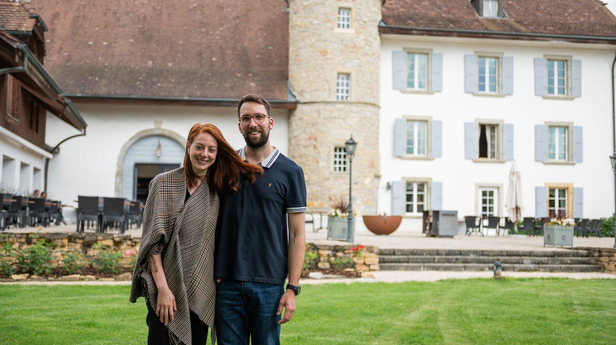 Neïla et Flavio Benedetto ont repris le Château de Salavaux, qui a rouvert ses portes le 13 mai 2021.