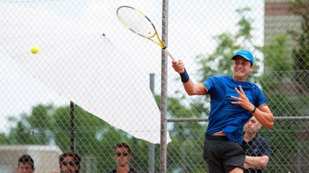 Pour sa première participation à une finale ITF, Damien Wenger n'a pas tremblé.