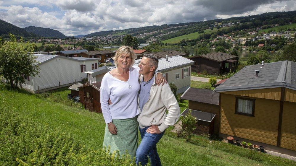 Florence Dole et son mari Patrick Chartier sont responsables du camping des Brenets depuis trois ans.