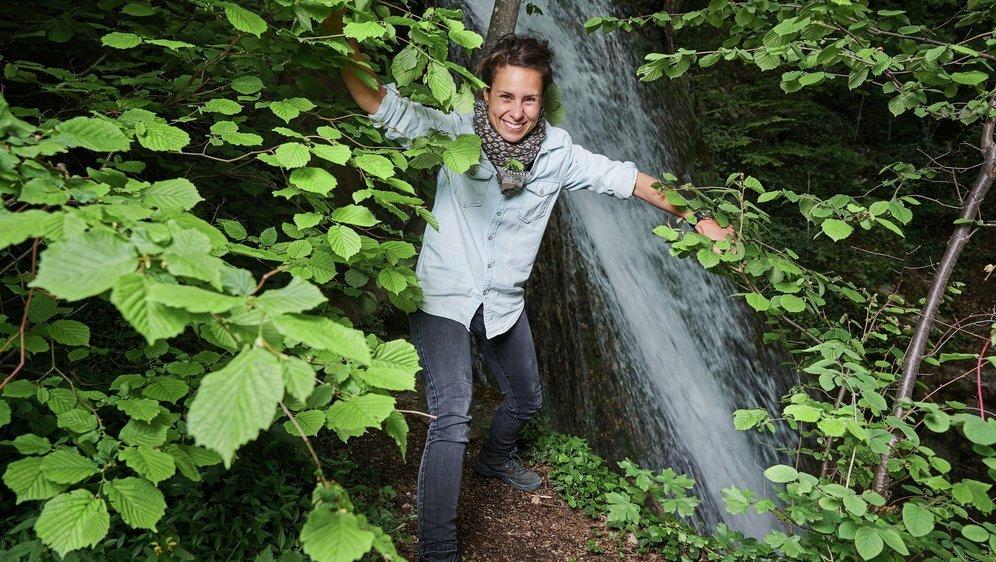 """Phanee de Pool nous l'assure, """"on a vraiment l'impression de voir des fées dans le miroitement des cascades""""."""