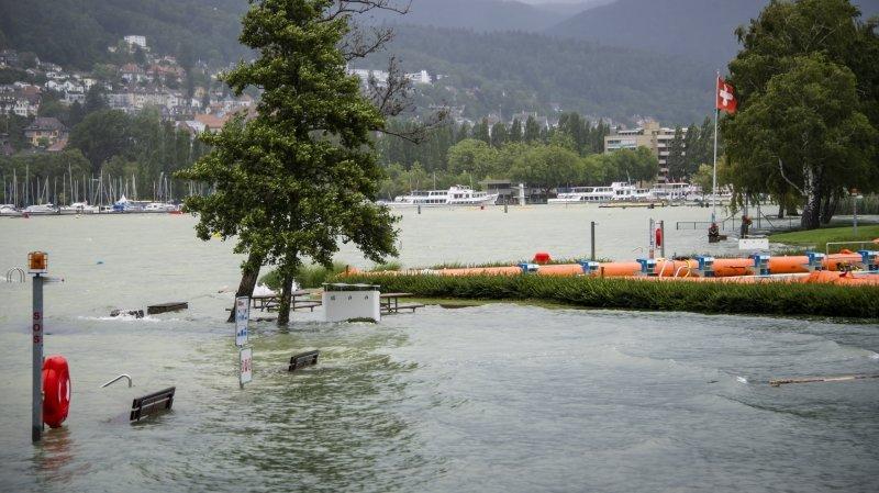Le lac de Bienne en route pour un niveau record, celui de Neuchâtel monte aussi