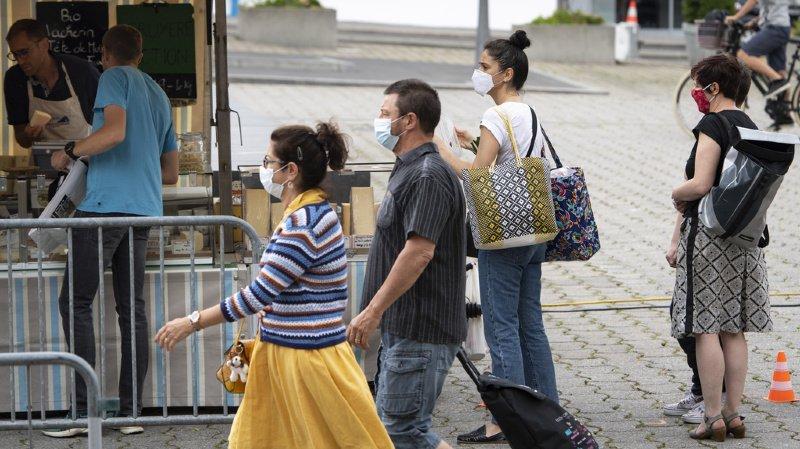 Coronavirus: la Suisse compte 827 nouveaux cas pour 18'590 tests, 24 hospitalisations et 2 morts
