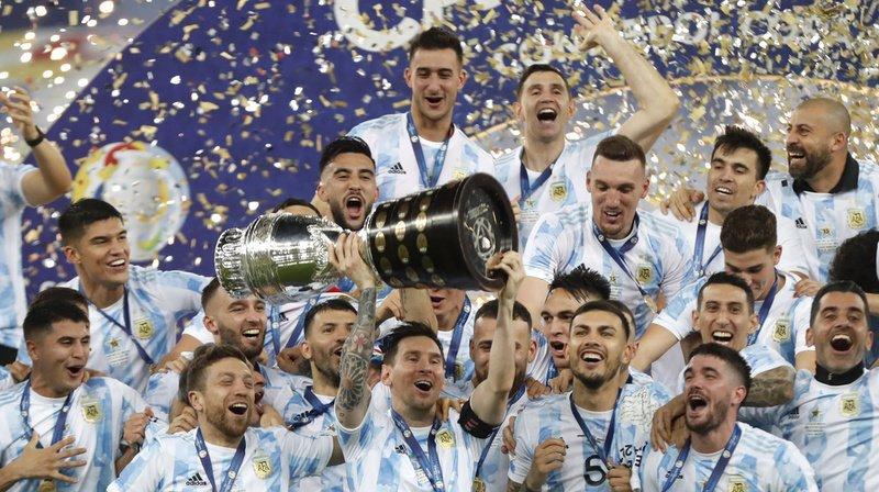 Football: l'Argentine remporte la Copa America face au Brésil