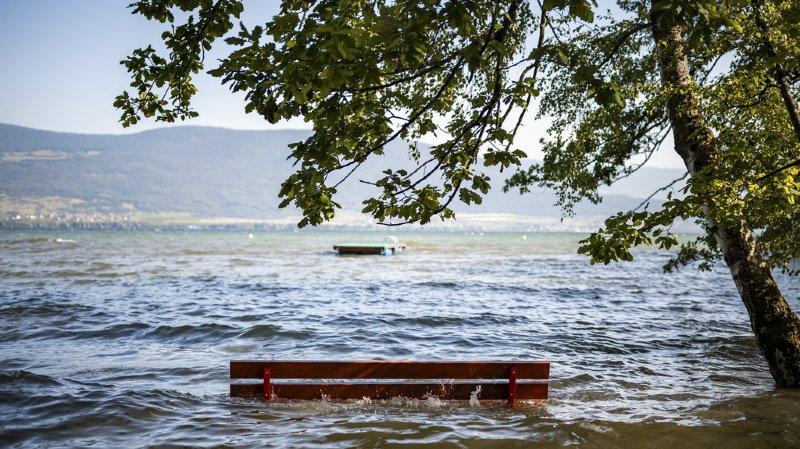 Intempéries: lent retour à la normale avec la baisse du niveau des lacs en Suisse