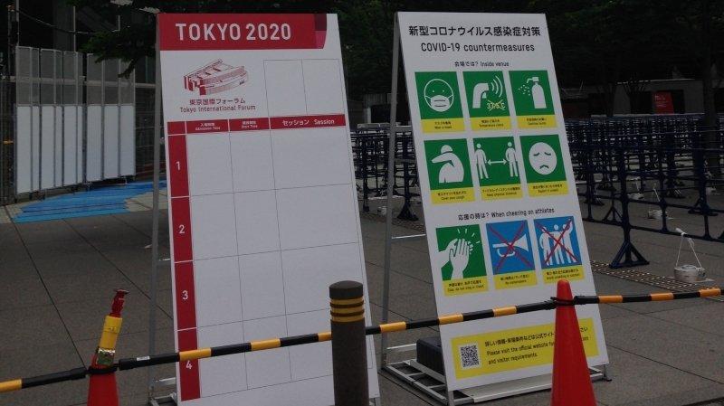 La carte postale de Tokyo: des Jeux peu joyeux