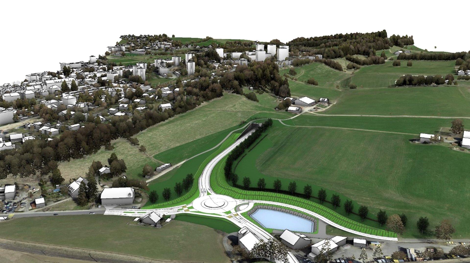 Le projet de contournement est de La Chaux-de-Fonds devra obtenir l'aval des Neuchâtelois.