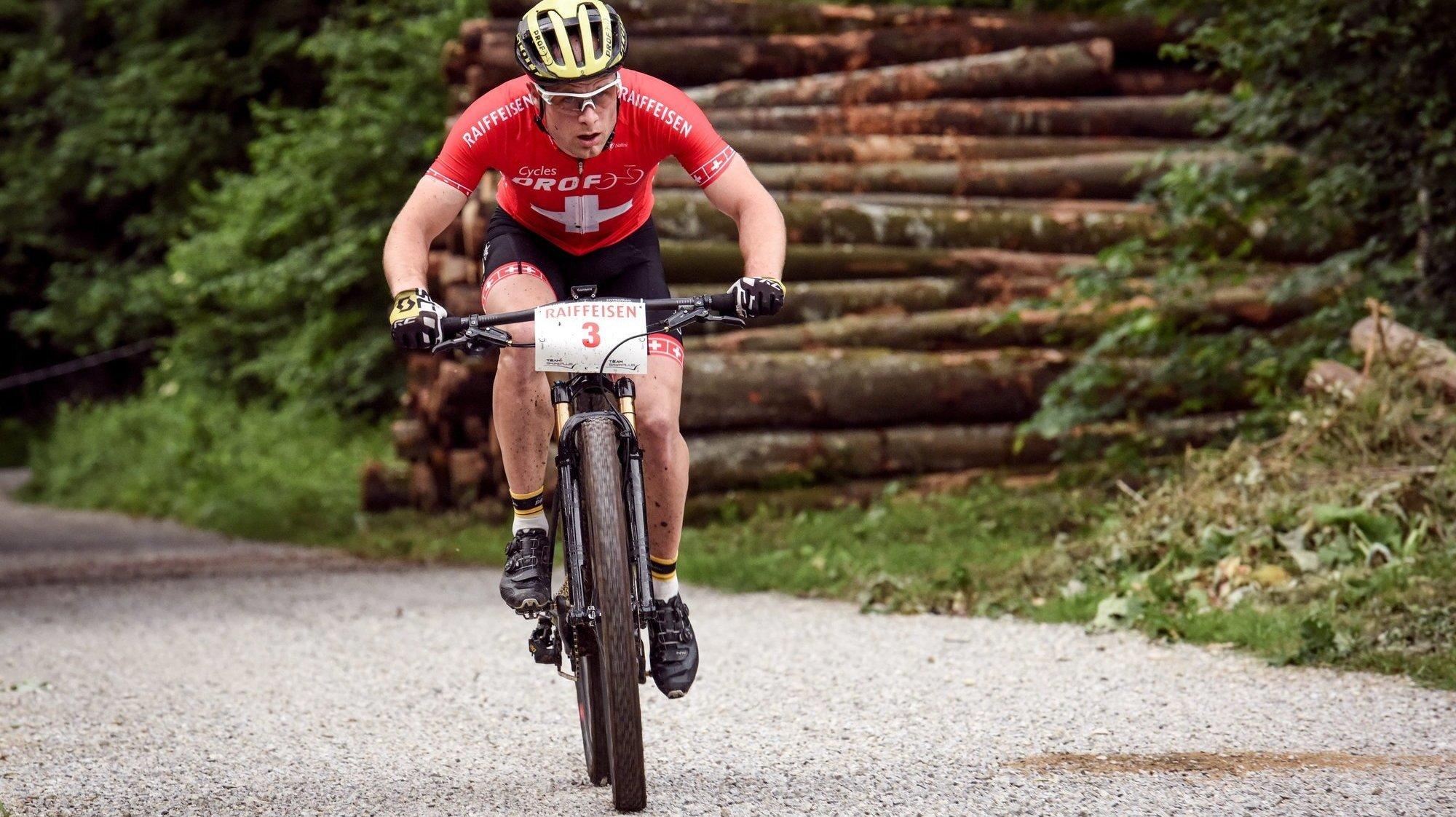Victoire de Nicolas Lüthi lors de la Sense Bike