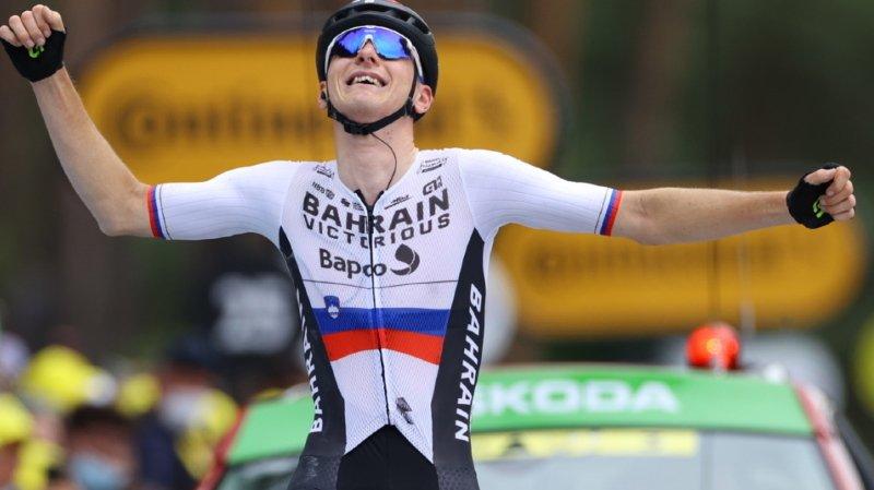 Le Slovène de l'équipe Bahrain-Victorious Matej Mohoric s'était imposé au Creusot, terme de la 7e étape du Tour de France.