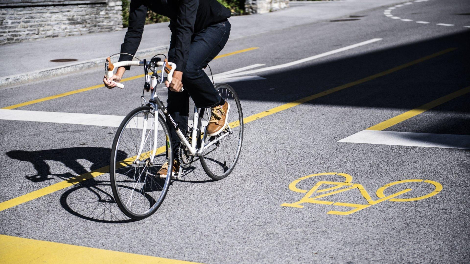 Cycliste blessé à Cressier