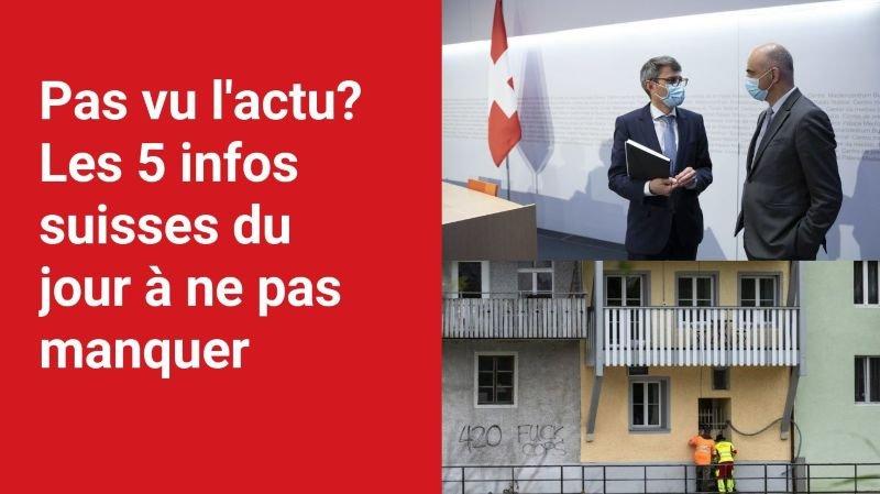 Les 5 infos à retenir dans l'actu suisse de ce jeudi 29 juillet