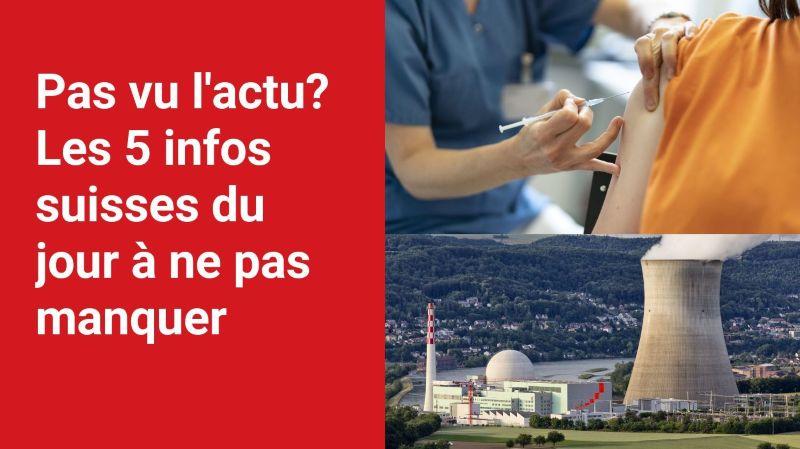 Les 5 infos à retenir dans l'actu suisse de ce jeudi 22 juillet