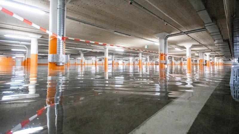 Neuchâtel: le parking souterrain de la Maladière sort la tête de l'eau