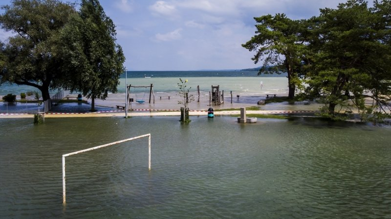 Intempéries: décrue du lac de Bienne, inondations à Neuchâtel et Yverdon (VD)