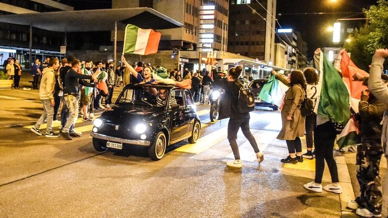 Euro: les tifosi neuchâtelois ont fêté la victoire de l'Italie jusqu'au bout de la nuit