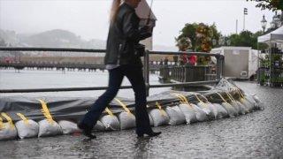 Intempéries: la Suisse centrale en alerte maximale, la situation se détend à Genève et en Valais
