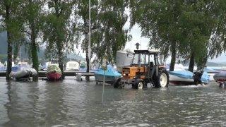 Intempéries: hausse du niveau du lac de Bienne qui a dépassé le niveau de crue