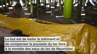 Neuchâtel: le parking de la Maladière inondé préventivement