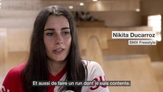 La spécialiste du BMX Nikita Ducarroz rêve de médaille à Tokyo