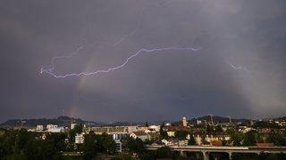 Météo: de violents orages et 25'000 éclairs sur la Suisse