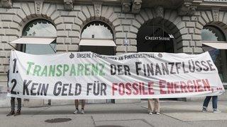 Revendications des militants du climat à la place financière suisse