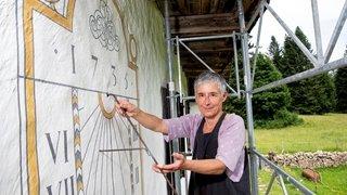 Au Crêt-du-Locle, un cadran solaire exceptionnel en pleine rénovation