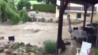Inondations à Frochaux