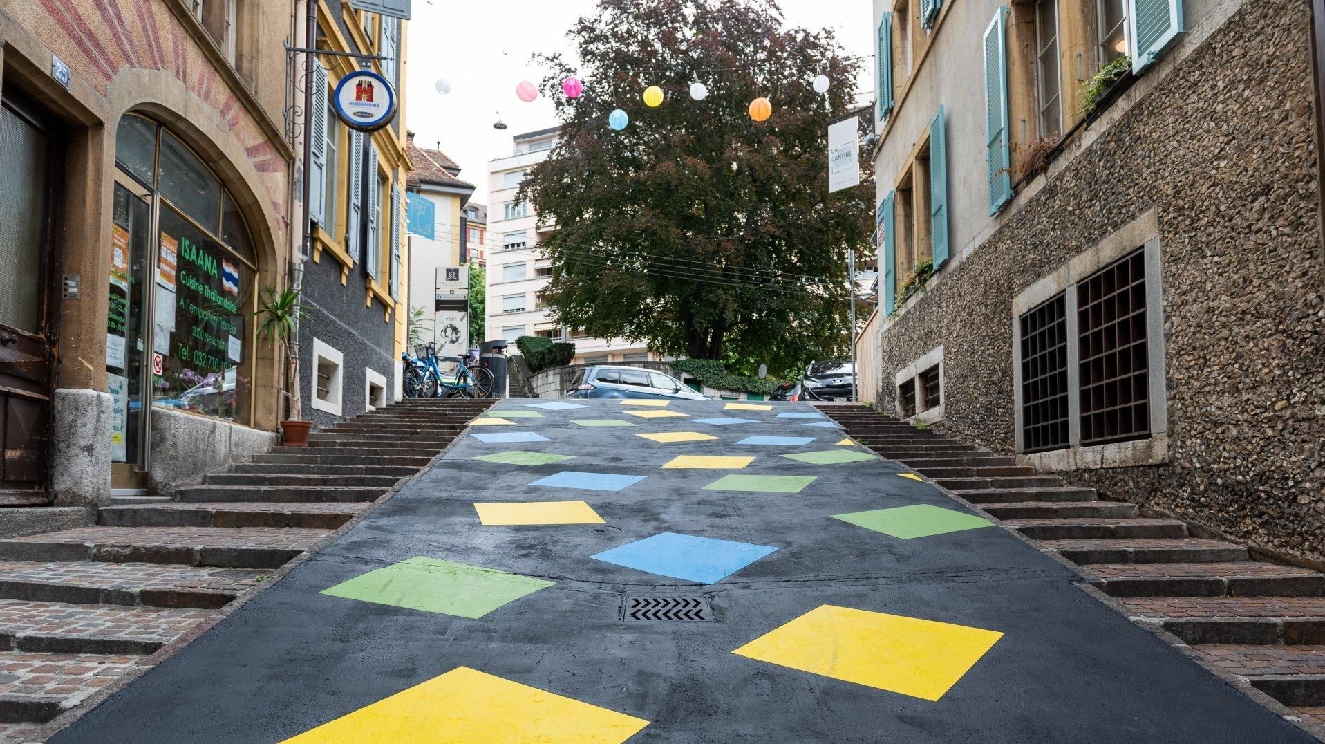 Neuchâtel: la rue des Chavannes arbore un nouveau visage