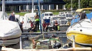 """Dans le port de Saint-Aubin, le """"Lark"""" est ressorti de l'eau"""