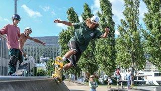 Greg Ruhoff, espoir du skate suisse, a fait rêver les jeunes Neuchâtelois