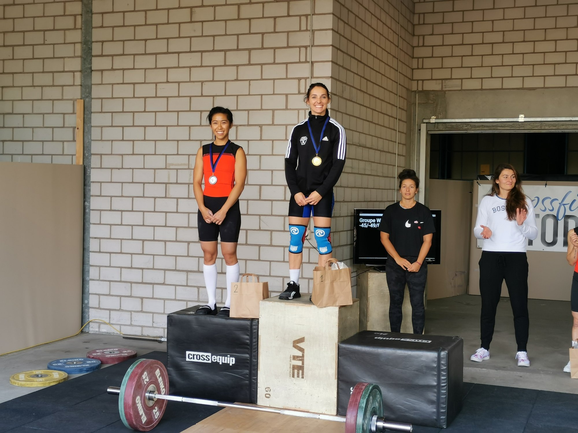 Caroline Pellaton and Titouan Verloes topped Swiss weightlifting champions