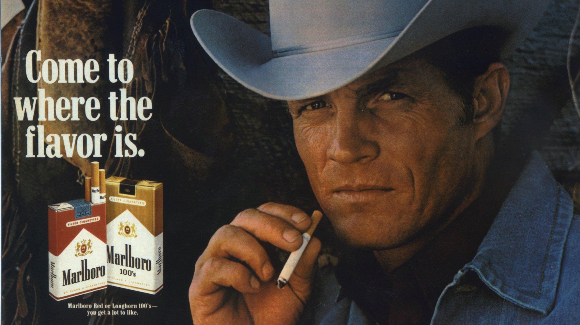 Eric Lawson, l'homme des publicités de Marlboro de la fin des années 1970, est décédé à 72 ans d'une maladie pulmonaire obstructive chronique. En Suisse, le tabac tue 9500 personnes par année.