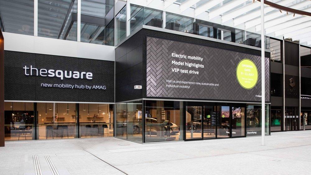 Le nouveau hub de l'électromobilité d'Amag a ouvert ses portes en juillet, à proximité de l'aéroport de Zurich-Kloten.