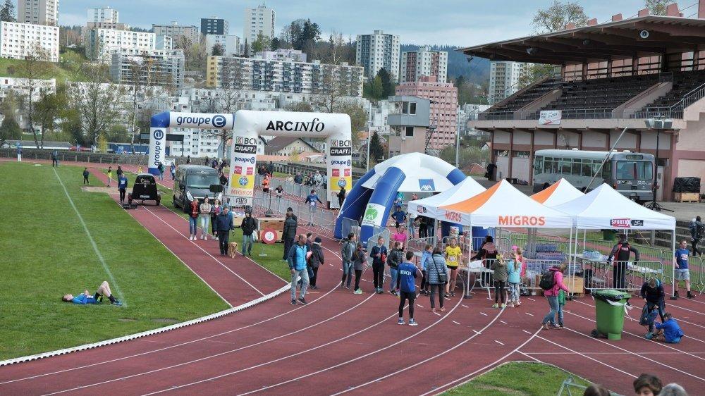 Le Centre sportif de la Charrière se prête très bien à l'organisation d'une étape du BCN Tour dans les conditions sanitaires actuelles.