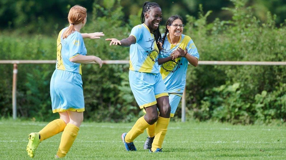 Les filles FF-19 du Team Corcelles-VDR ont jubilé à cinq reprises contre Morat.