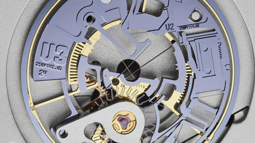 Plongée au cœur du Siloscape: la roue d'échappement est en contact direct avec le balancier, pourvu de palettes d'impulsion. Les horlogers apprécieront...