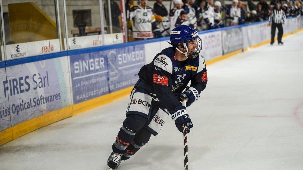 Stefan Ulmer, désigné meilleur joueur du HCC jeudi contre Kloten.