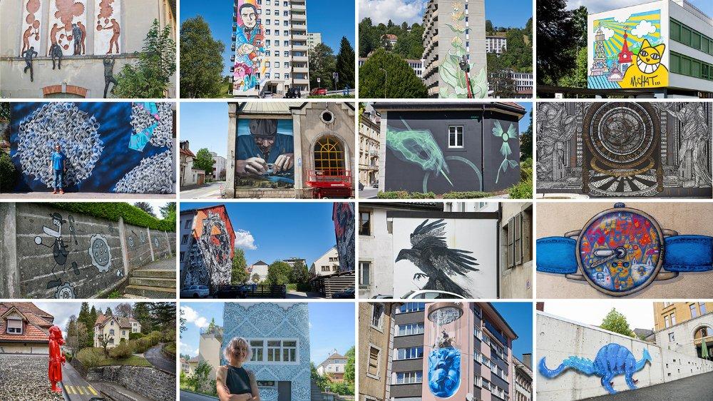 La ville du Locle est-elle est passe de devenir la capitale suisse du street art? Jusqu'à présent, 16 artistes urbains, reconnus mondialement, sont venus décorer ses murs et ses toits.