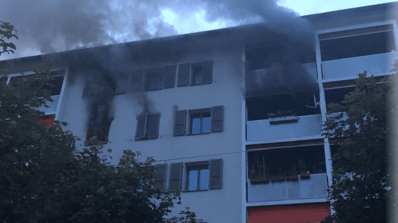 La Chaux-de-Fonds: incendie dans un appartement de la rue du Locle