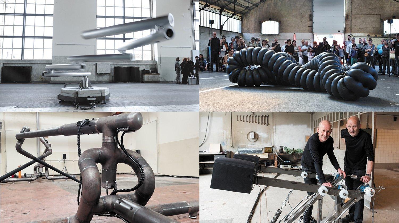 La Chaux-de-Fonds: les fascinantes machines sonores des frères Décosterd exposées aux anciens abattoirs